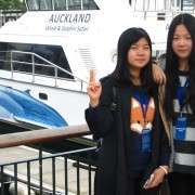 Two Girls Whale And Dolphine Safari Boat