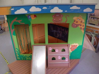 Our students seek votes for their awesome playhouse