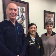 Mike And Karen Bennetts With Jessie Chen