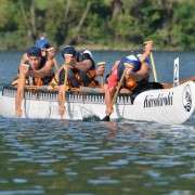 Waka Ama Paddling Action Boys