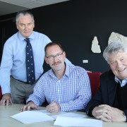 Greg Whittred, Pete Jones, John Hynds   Signing Mou Between Mhs And Uabs