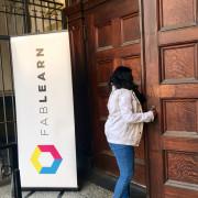 Entering Conference Venue