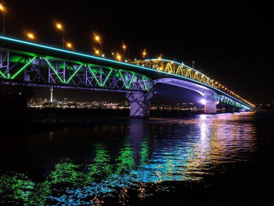 Auckland Harbour Bridge Lights