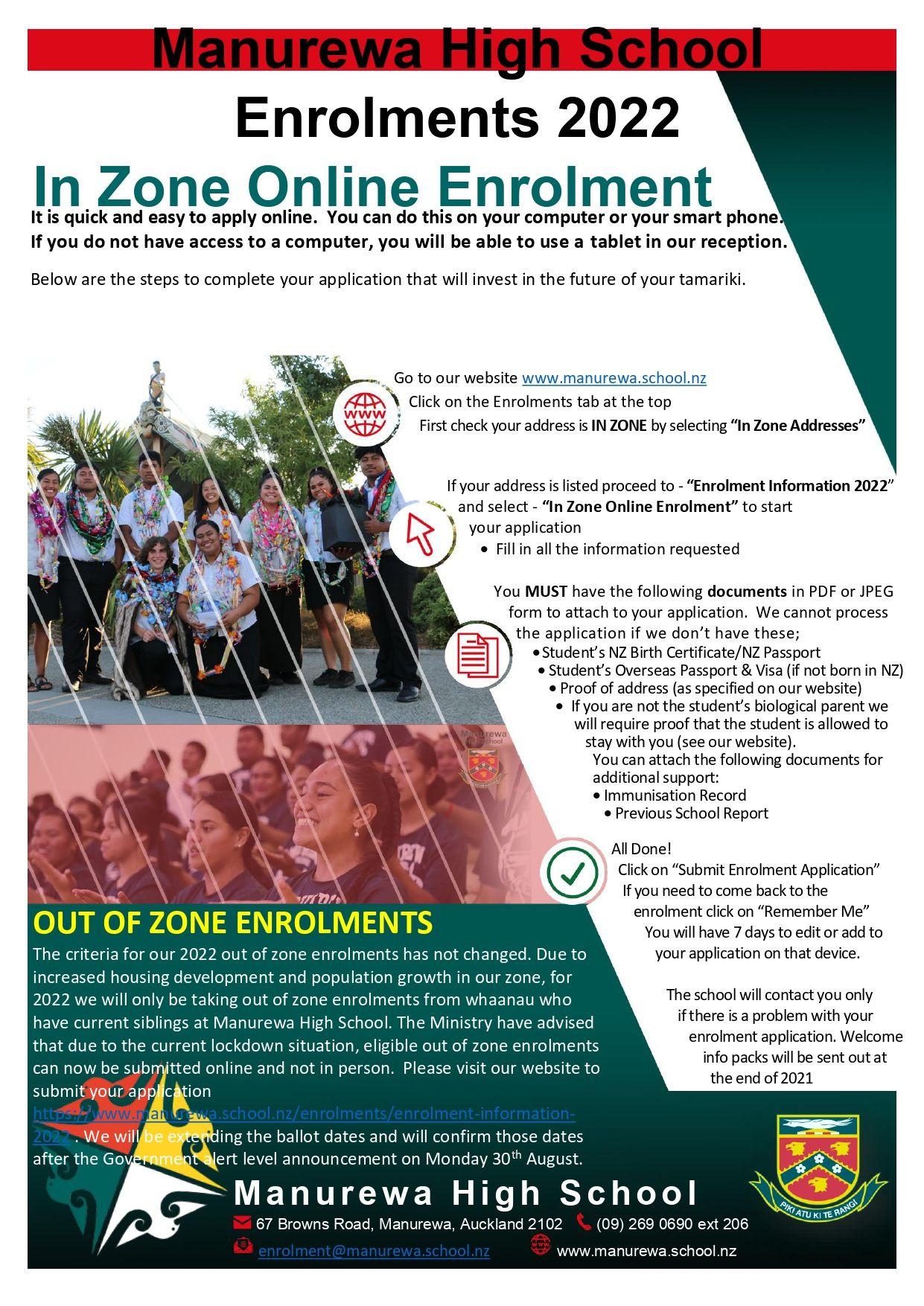 Enrolment Flyer 2022 Lockdown Update For Ooz Ballot 27aug21