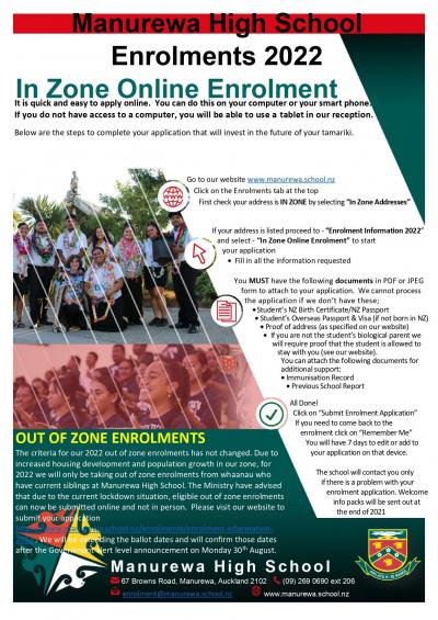 OOZ Enrolment 2022- Updated
