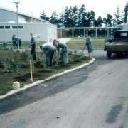 Beautifying Grounds By Hall 1960